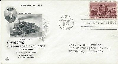 1950 Honoring the Railroad Engineers of America FDC with Art Craft cachet
