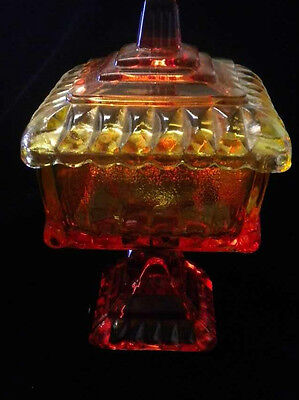 Vintage Candy Dish 1960's Jeannette Amberina