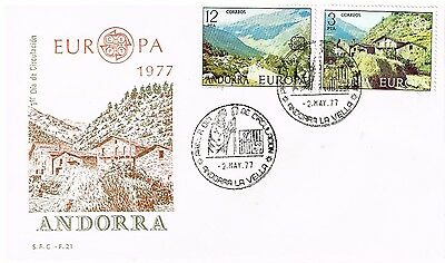 1977 Andorra - Europa Issue FDC