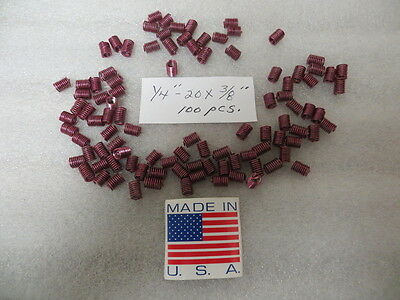 """1/4""""-20 x .375""""  Helicoil Style Thread Inserts ( 100 Pcs. )"""