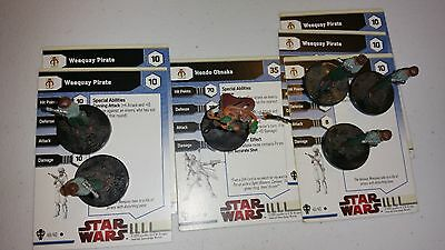 P Star Wars Miniatures Fringe Hondo 5x Weequay Pirate