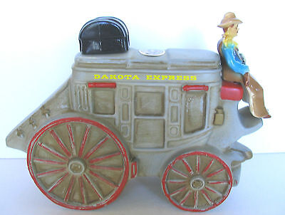 Rare Dakota Shotgun Express Stagecoach + Driver With Rifle 1977 Brooks Decanter