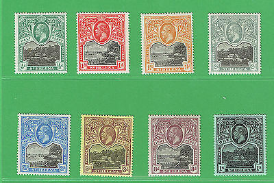 (R239) St. Helena 1912-16 Set to 1/- SG72-79 Cat £44.50