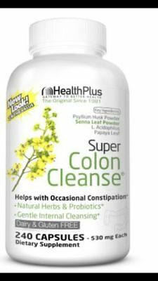 Super Colon Cleanse 500mg - 240 Capsules - Health Plus Inc