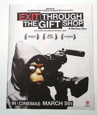 Banksy - Exit Through The Gift Shop - 2010  Original Advert Poster Size 12 X 10