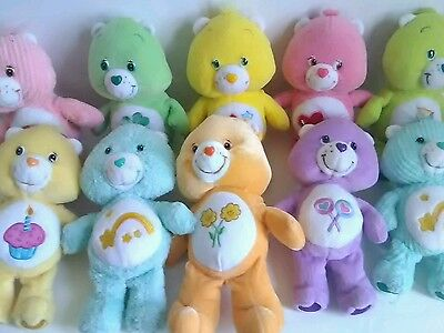 Lot Of 10  Care Bears  Care Bear Cousin Plush Sizes small