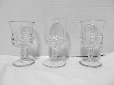 Vintage Pressed Glass Goblet Thumbprint Cordial,Sherry,Liqueur mixed lot 3 LQQK!