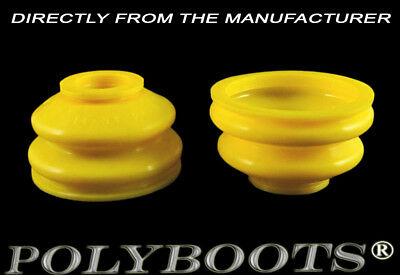 2x Polyboots Ball Joint Dust Boots 14x34x24 mm Polyurethane Replacement Boots