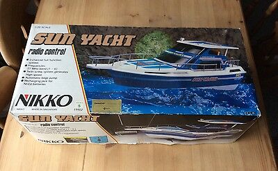 Vintage Nikko Radio Controlled Sun Yacht Boat 1/20 Working & Boxed Rare