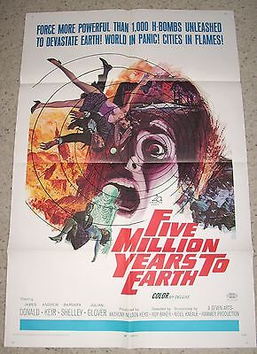 """FIVE MILLION YEARS TO EARTH"" 1967 1SH ORIGINAL Hammer MINT"