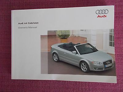Audi A4 Cabriolet / Convertible Owners Manual - Owners Guide - Handbook (Au 540)