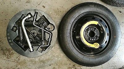 "Fiat 500 2007-2018 Space Saver 14"" Spare Wheel & Jack And Spanner Kit"