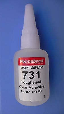 Permabond  Instant High Strenght Toughened  Adhesive Clear 1 oz Bottle FREE SHIP
