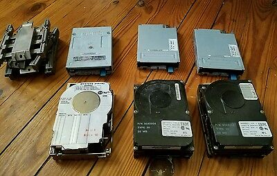 Vintage IBM hard drives/ 1.44 mb Disk drives
