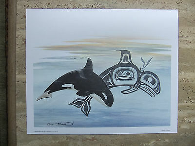 """Sue Coleman, """"Killer Whale/Orca"""" - Canadian First Nations Inspired Art Print"""