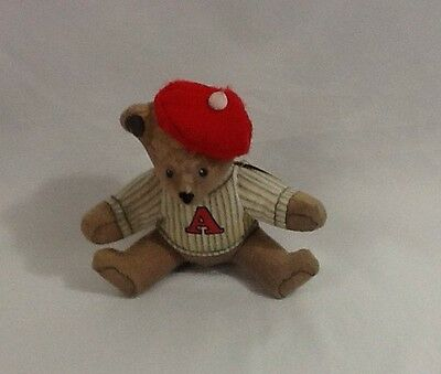 "Vtg. 5.5"" Toy Works Michael Hague 1984 DOG W/ BERET SWEATSHIRT stuffed bean bag"