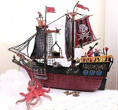 RARE True Legends Pirate Captains Ship Play Set Chap Mei Heroes Pirates Toy Lot