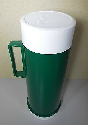 "Vintage 12"" THERMOS Green White Plastic Vacuum ONT. M1L2M8"
