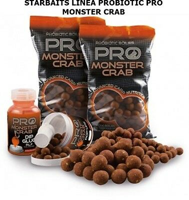 STARBAITS BOILIES PROBIOTIC PRO MONSTER CRAB BARATTOLO POP UP 14mm CARP FISHING