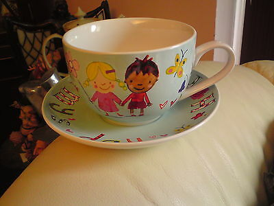 Large Breakfast Cup and Saucer - Marks and Spencer HAPPY MUMMY,S DAY, VGC.