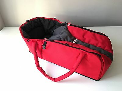 Phil & Teds Padded Red Grey And Black CARRYCOT COCCON / Free Postage