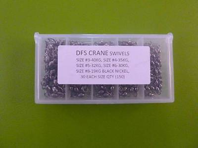 BOXED 150x DFS CRANE ROLLING FISHING SWIVELS SIZE  3, 4, 5, 6, 8.  TACKLE