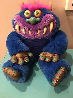 My Pet Monster Plush Toy 2001 Toymax Talks No Handcuffs Tested WORKS!