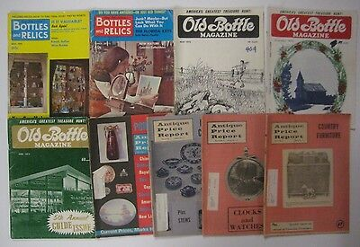 Vtg Lot 70s OLD BOTTLE MAGAZINE Collectors Bottles & Relics Antique Price Report