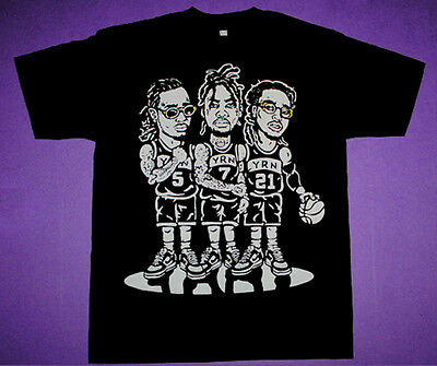 FNLY94 THE 3 Migos Gold shirt supreme rap group culture
