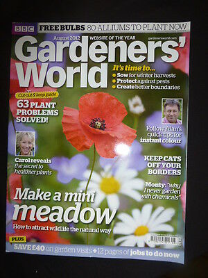 Gardeners World Aug 2012  BBC, Make A Mini Meadow,  Wildlife The Natural Way. +