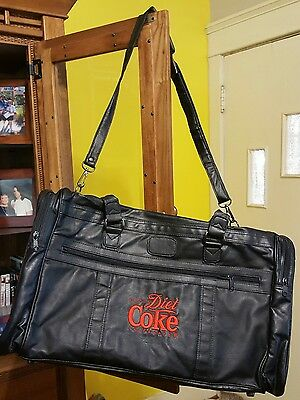 Black DIET COKE TOTE BAG Gym Picnic with Strap 21 x 11 x 13 inches