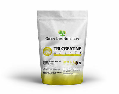 Tri Creatine Malate Pure Powder 454g FREE WORLD SHIPPING !