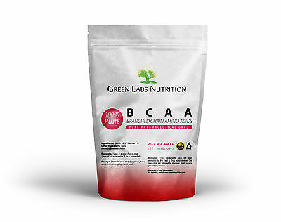BCAA BRANCHED CHAIN AMINO ACIDS POWDER 454g FREE FORM FREE WORLD SHIPPING !!!