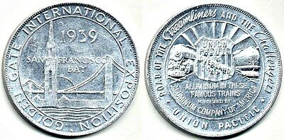 Medal From The 1939 GGIE: Golden Gate Bridge // Union Pacific Railroad Trains