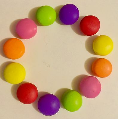 12  Fimo Polymer Clay Smarties Beads