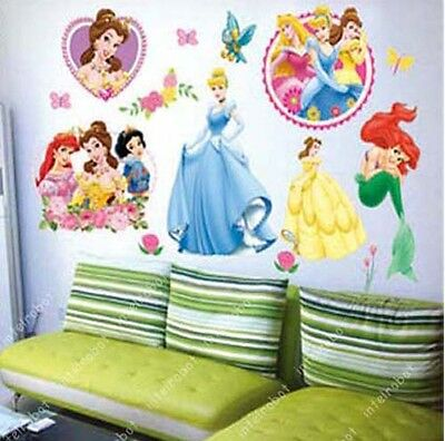 DIY Wall Decal Sticker Disney Princess Girl Kid NurseryRoom Art Mural Home Decor