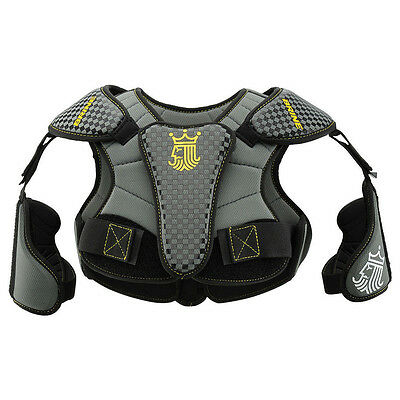 Brine LoPro Prodigy Youth Lacrosse Shoulder Pads Large Black Checkered - NEW