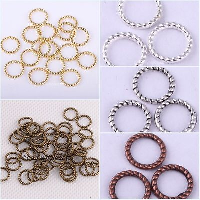 60Pcs Alloy Twist-Ring Charm Link Rings 8mm Finding For Jewelry Making