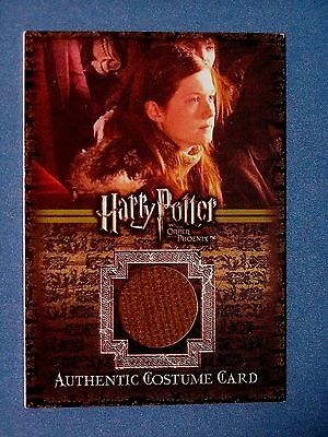 Harry Potter-OOTP-AUTHENTIC-Costume Card-Bonnie Wright-Ginny Weasley-#260/625