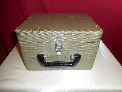 1940's Vintage Photographic Tweed Slide Case - Good Condition!