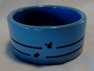 "*CLEARANCE*BLUE STONEWARE HAMSTER/GERBIL CERAMIC FOOD/WATER BOWL-3"" Small Rodent"