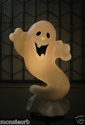 """Vintage Ghost 24"""" tall X 16"""" wide Blowmold Blow Mold yard Halloween with cord."""