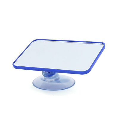 Blue Rectangle Flag Adjustable Interior Rear View Suction Cup Mirror for Car