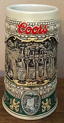 Coors 1990 Holiday Series Beer Stein 1935 PRINT ADVERTISEMENT Numbered edition