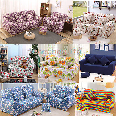 Elastic Sofa Cover 1 2 3 4 Seat Stretch Slipcover Couch Furniture Protector Fit