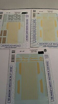 HO scale microscale decals