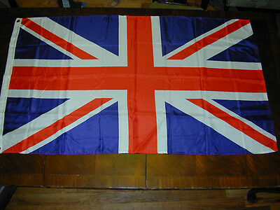 """FLAG:United Kingdom Country 59""""X34""""Blue Red Wall Decor Patriotic Show Your Pride"""