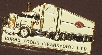 Burns Foods Transport - Semi truck and trailer - Pin
