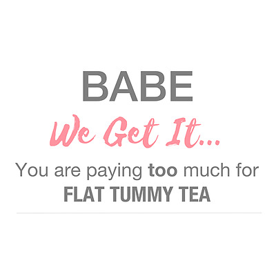 Flat Tummy Tea Detox - 4 Week Pack - Day & Night Cleanse - 25% Off Regular Price