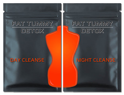 50% Off - Flat Tummy Tea Detox - 2 x 4 Week Pack (8 weeks) Day & Night Cleanse